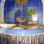 Fountain inside upstairs