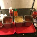 Condiments self serve