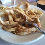 Hard time eating that kind of $6 burned onion rings with no batter at all!  I didn't eat any.  M