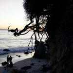 gorgeous pristine sunset along Malibu beach