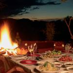 Dinners in our boma offer culinary delight.