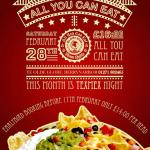 All You Can Eat Theme Nights every Month
