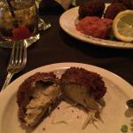 Crab stuffed artichoke hearts