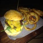 Lamb burger, R110.00 with extras