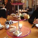 Plastic cake stand!