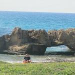 Natural bridges on the beach