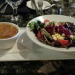 Half salad & soup: super fit salad and white bean turkey chili