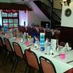 Table set for 20 people lovely intermate setting