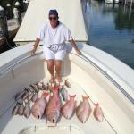 Fantastic mutton snapper fishing with yellowtails with my client Melissa.
