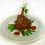 This presumtious shank of lamb could be on your party menu