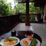 Delicious breakfast on our balcony!