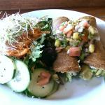 Enchilada plate with salad