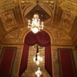 Ornate interior of the Warner Theater.