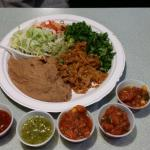 Salsas...and my refries/sp. rice and veggies