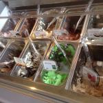 Choices of different gelato flavors