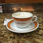 A cappuccino before the shopping begins