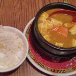 Curry tofu pot and rice