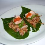 Smoked trout on Betel Leaves