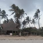 The Starfish restaurant on the beach with Muba Guest House behind it