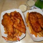 Fish & Shrimp on the left and Fish & Chips on the Right.