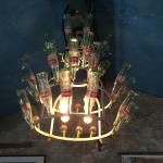 Cool Coke Bottle chandelier.