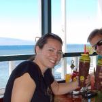 Enjoying burgers and Mai Tais at Captain Jacks