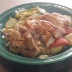 En salada  de pollo