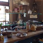 Dining among the cool kitchen store