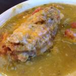 Relleno with green chili - fresh chili, complex sauce - wow!