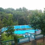 The new pool as seen from our terrace
