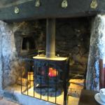 Cozy by the fire at the Bearslake Inn.