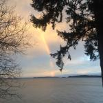 A rainbow seen from Seal Point deck