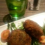 starter - bubble and squeak fishcakes
