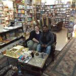 Owees, my girlfriend, and the owner of the Aboudy Bookshop