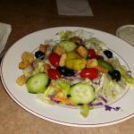 Dinner salad and breadsticks