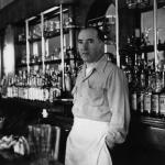 Pat Connolly behind the bar