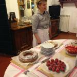 Laura with her wonderful desserts