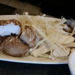 Mushroom platter (we already started eating)
