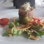 Tuna tartar appetizer