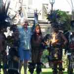 Some Aztec dancers danced and entertained.