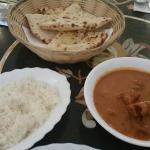 Butter Chicken & Rice $18.50 Garlic Naan $3.50