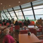 The cafe with wonderful views across the harbour.   Restaurant on the floor above
