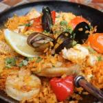 Share a paella with salad & garlic bread just 19.50 for 2