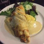 seasonal special duck pasty with mustard cream sauce