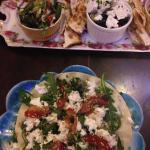 Starters (mezze and tostada)