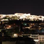 Vista do terraço do hotel a noite