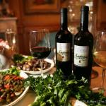 Chef Andrea homemade wine from Capri, Italy