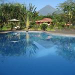 Volcano view from the swimming pool