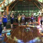 Yoga Practice Circle at the Pagoda