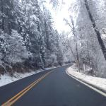 The road from Flagstaff to Sedona in January